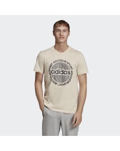 ADIDAS moška kratka majica M CRCLD GRFX T LINEN/WHITE