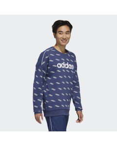 ADIDAS moški pulover M FAV TS SW  TECIND/WHITE