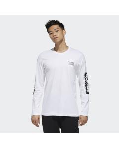 ADIDAS moška majica M SCRBL LS T  WHITE/BLACK