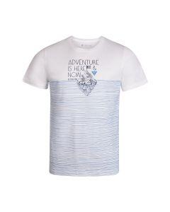ALPINE PRO moška kratka majica MARIN WHITE